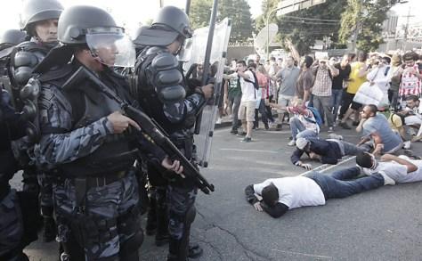Protesten tegen de Confederations Cup