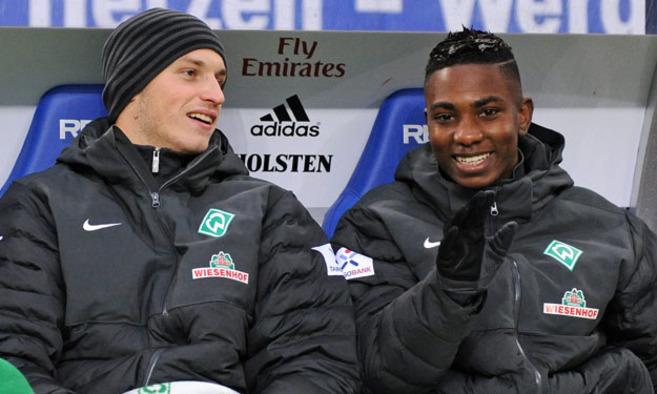 Arnautovic en Elia samen op de bank
