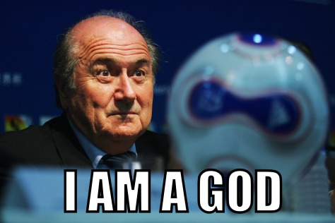 FIFA President Blatter Holds Press Conference At Women's World Cup 2007