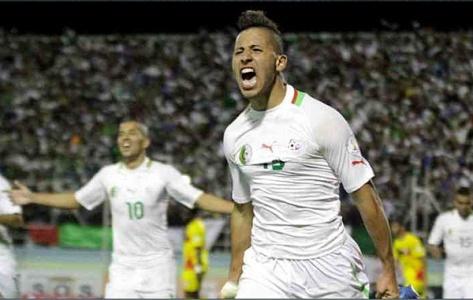 Saphir Taïder is één van Algerije's belangrijkste spelers. Foto: dzfoot.com