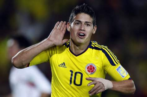 James Rodriguez, Colombia's ster nu Falcao is afgehaakt. Foto: 4.bp.blogspot.com