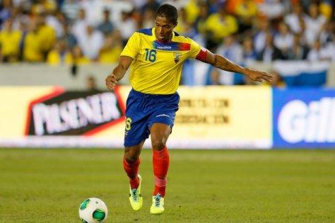 Al jarenlang de ster van Ecuador, Antonio Valencia. Foto: bleacherreport.net.