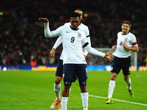 Hoe vaak gaan we dit zien op het WK? Vaak, hoopt Daniel Sturridge. Foto: static.goal.com