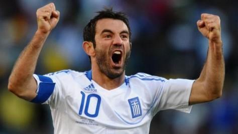 Giorgos Karagounis, deze 37-jarige dorpsgek is nog steeds de beste speler die de Grieken hebben. Foto: celebrityhairstylez.com