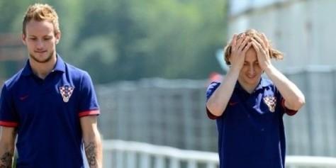 Kroatië's supermiddenvelders: Ivan Rakitic en Luka Modric. Foto: ritmodejuego.com