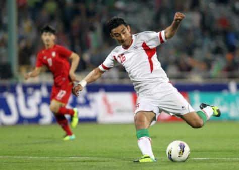 Reza Ghoochannejhad, één van de weinige bekende spelers van Iran. Foto: Talksport.com