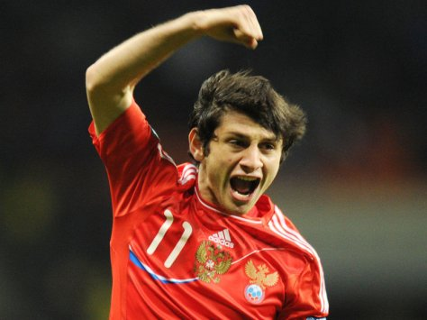 De Russen hopen dat deze man weer eens van zich doet spreken: Alan Dzagoev. Foto: sportige.com