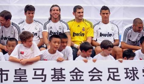 Real Madrid in Beijing voor de Spaanse Supercup. Foto: photobucket.com