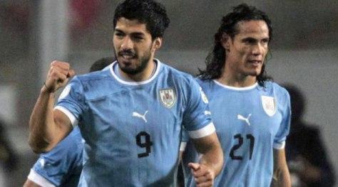 Wees bang, heel bang, voor deze twee monsters: Luis Suárez en Edinson Cavani. Foto: marca.com