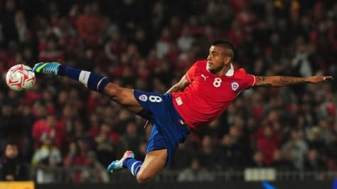 Chileense topper Arturo Vidal stijlvol in actie. Foto: Citifmonline.com