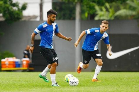 Gabigol in actie op de training bij Santos. Foto: imguol.com
