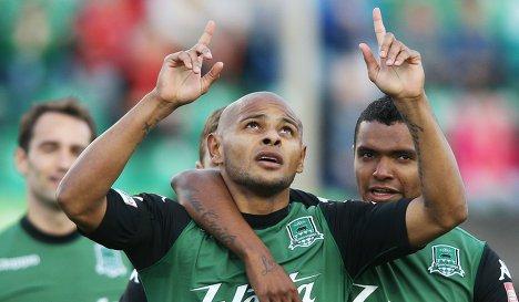 Ari da Silva (ex-AZ) na één van zijn doelpunten voor FC Krasnodar